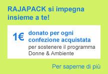 1 € donato a sostengno del programma Donne & Ambiente
