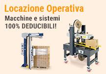 Locazione operativa - macchine e sistemi 100% deducibili