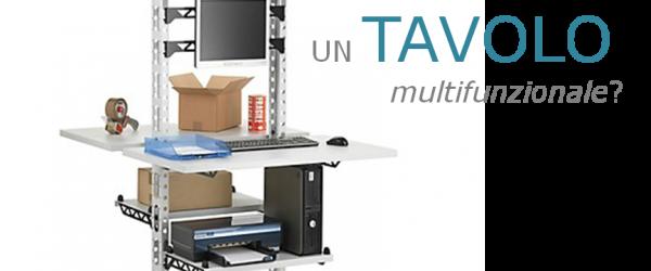 Tavolo da imballaggio mobile, multifunzionale, double-face, resistente
