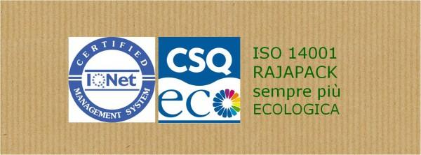 Rajapack è certificata ISO 14001