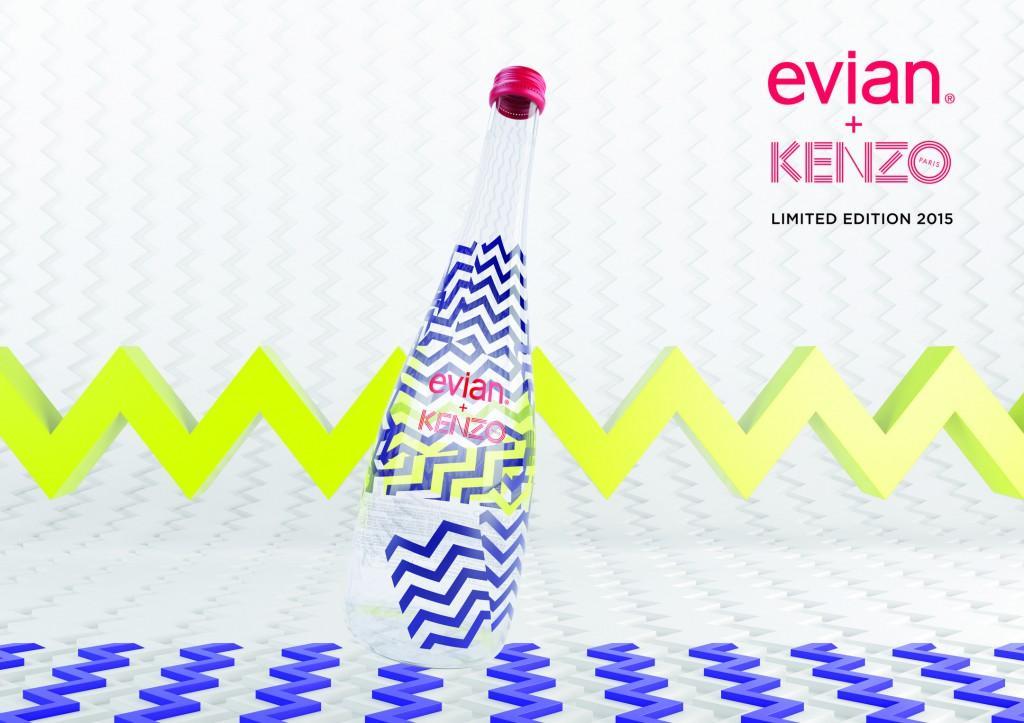 Packaging bottiglia Evian Kenzo