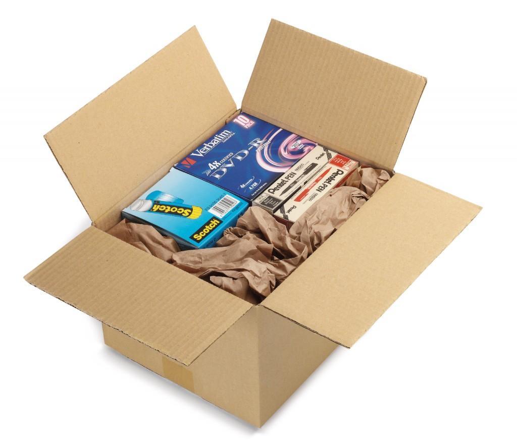 scatola con carta