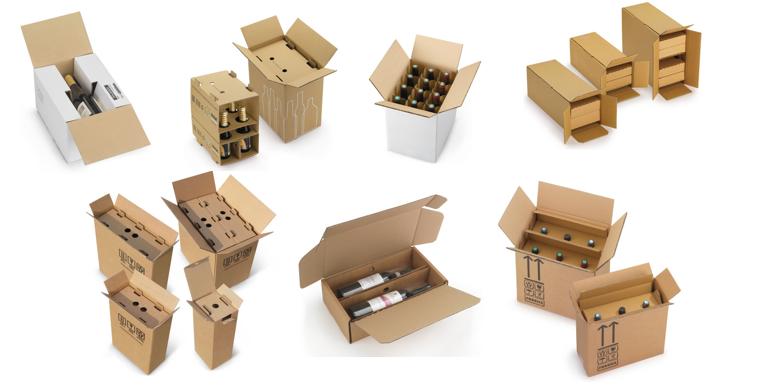 scatole bottiglia
